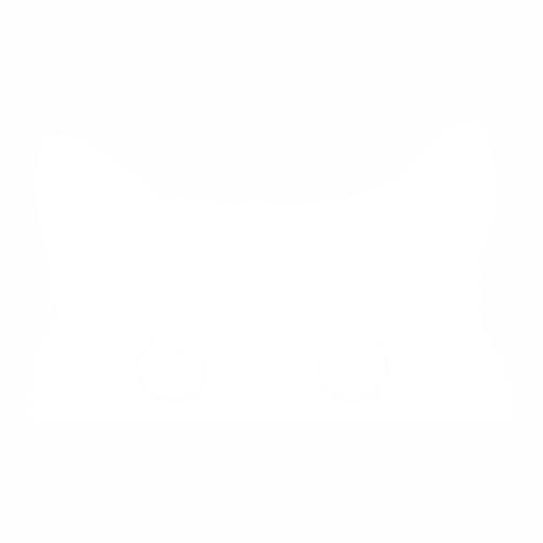Наклейка выглядывающая кошка