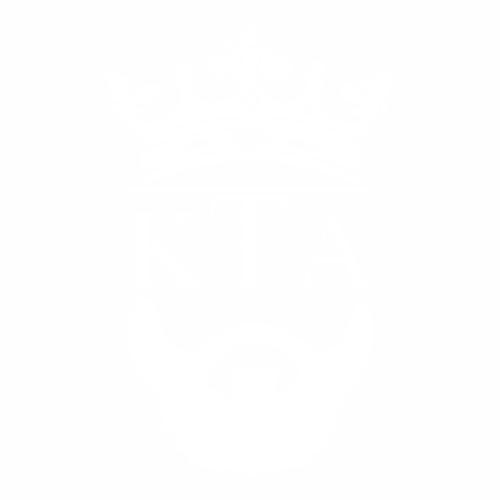 Наклейка КТА борода с короной