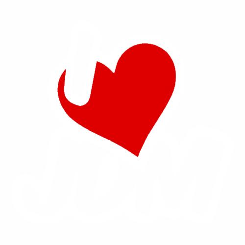Наклейка I LOVE JDM