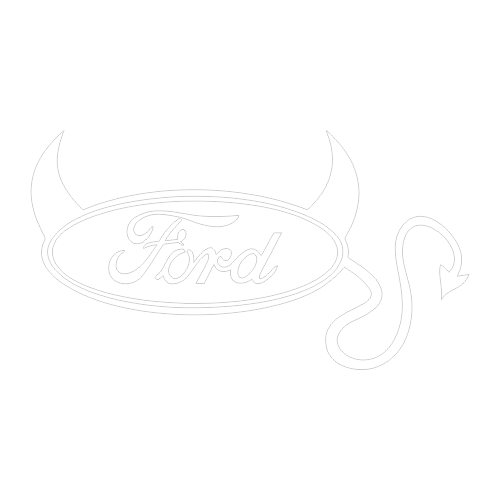 Наклейка Ford devil logo
