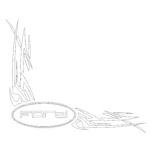 Наклейка Форд в угол стекла