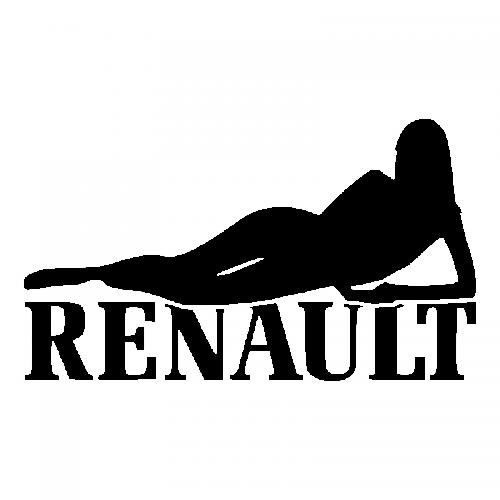 Наклейка Девушка Рено
