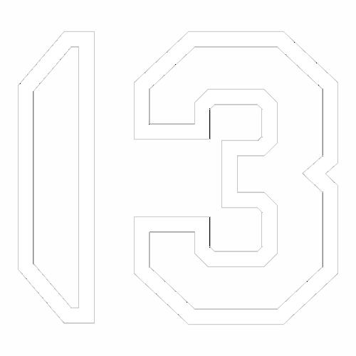 Наклейка Цифра 13