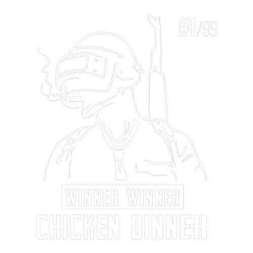 Наклейка PUBG winner winner chicken dinner