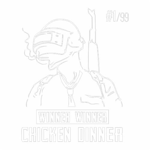 Наклейка PUBG winner winner chicken dinner