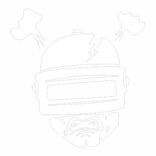Наклейка PUBG повредили 3ий шлем