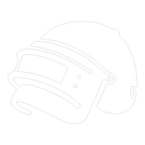 Наклейка PUBG шлем 3го уровня