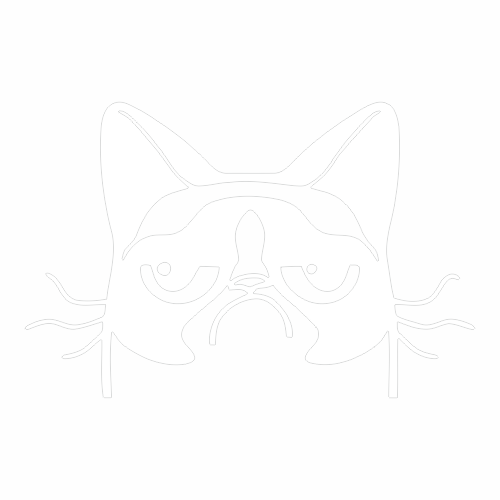Наклейка Сердитый кот