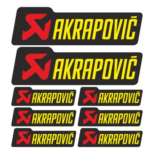 Набор наклеек Akrapovic с фоном